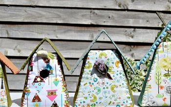 Decorate Your Home With Some Gorgeous Scrap Fabric Birdhouses