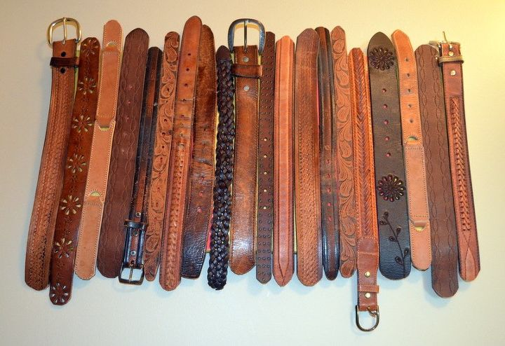 diy upcylced belt wall art, crafts, how to, repurposing upcycling, wall decor