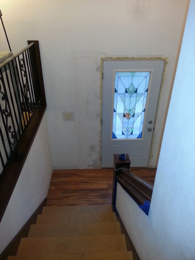 q first time homeowner what where why start where first, curb appeal, flooring, painting, windows, woodworking projects, new entry way flooring down