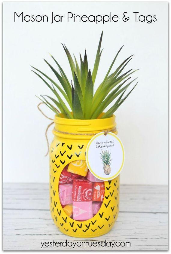 pineapple mason jar, crafts, how to, mason jars, repurposing upcycling