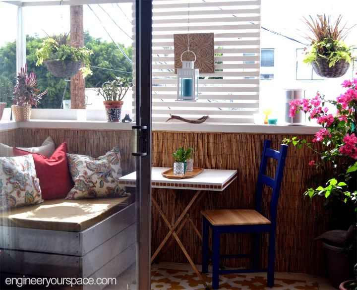 small rental balcony makeover before and after, outdoor furniture, outdoor living, porches, urban living