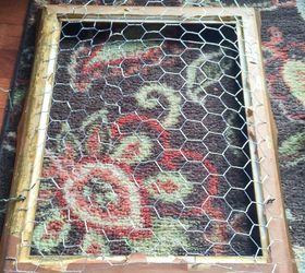 Vintage Frame Chicken Wire Paint Fabulous Jewelry Organizer