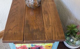 reclaimed wood nightstand, painted furniture, repurposing upcycling