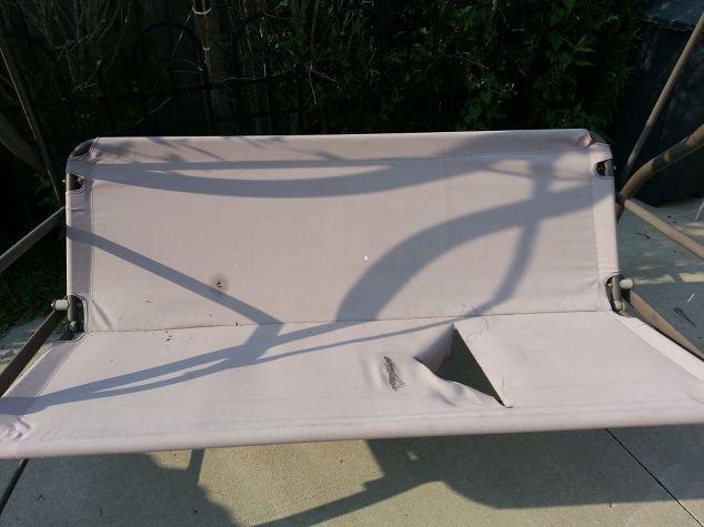 Revamp Patio Garden Swing Outdoor Furniture Painted Reupholster