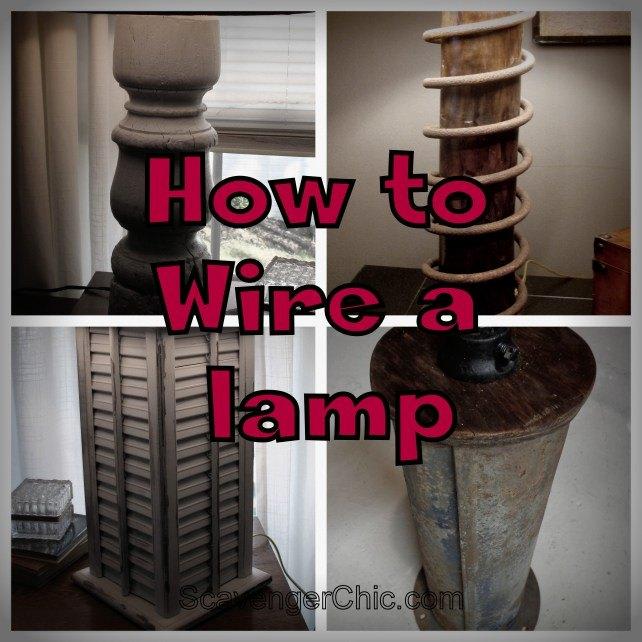 how to wire a lamp with lots of pictures, diy, electrical, how to, lighting