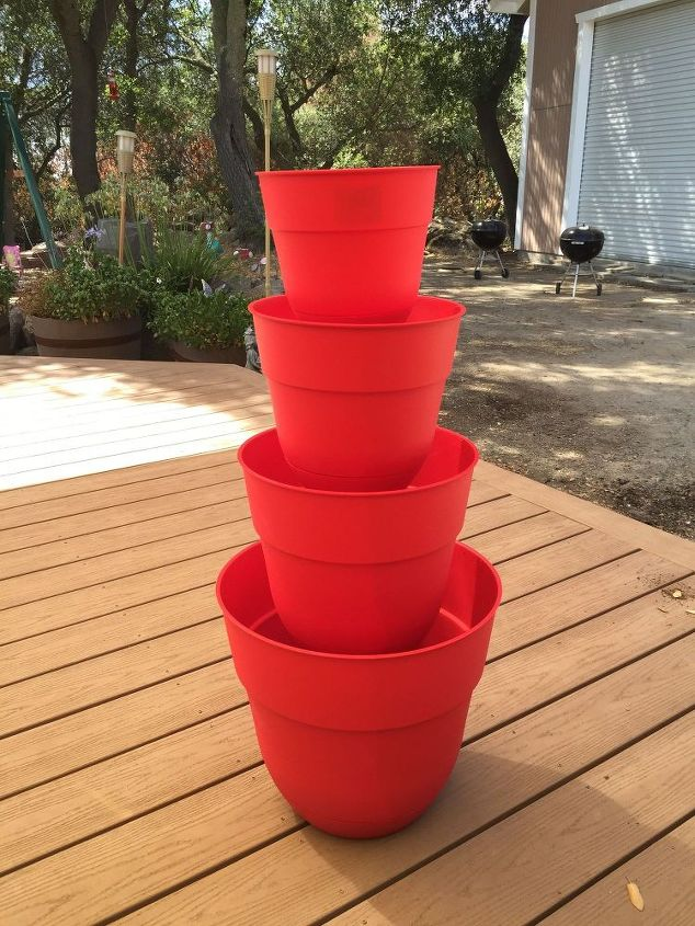 Four-tiered planter