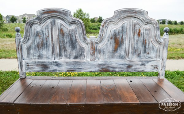 headboard to reclaimed wood bench repurposing upcycling, diy, how to, outdoor furniture, painted furniture, repurposing upcycling