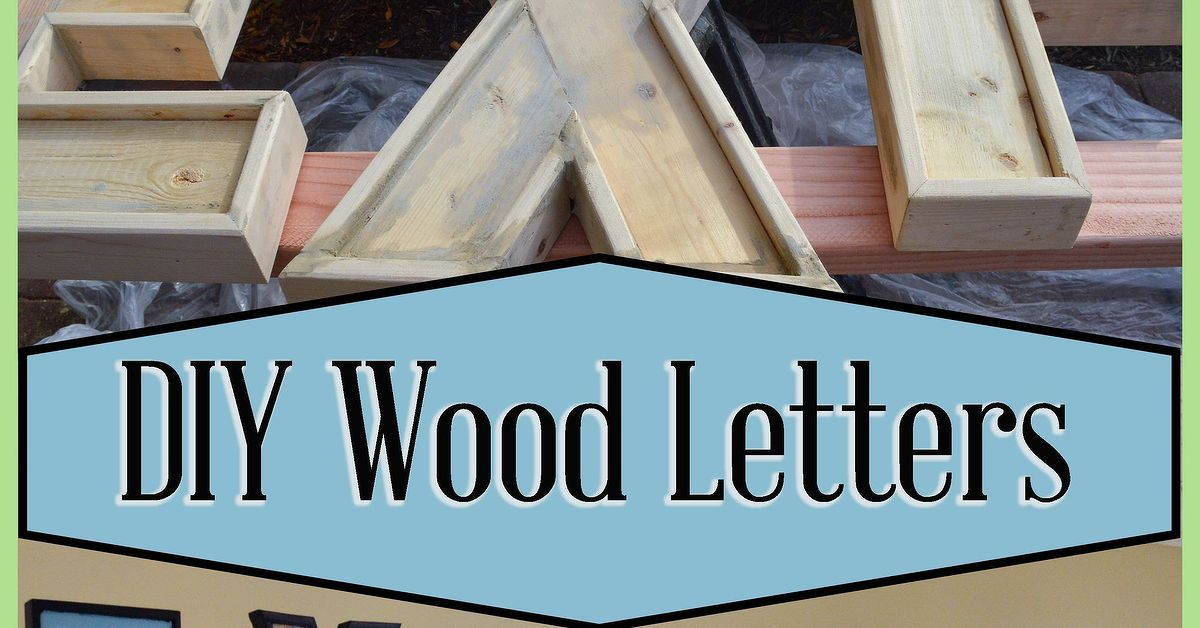 Make Large Wood Letters Out Of 2x4 And Furring Strips
