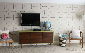 Modern Wall Stencil In The Playroom