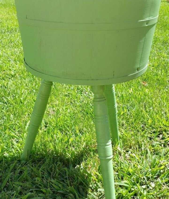 painted refurbished wooden plant stand container gardening, container gardening, crafts, gardening, painted furniture