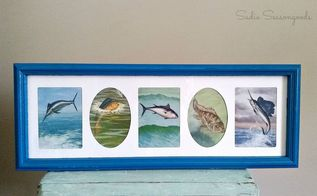 diy wall decor wall album frame and vintage nature atlas, crafts, wall decor