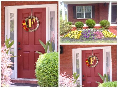 Can a red front door work with this color brick?   Hometalk