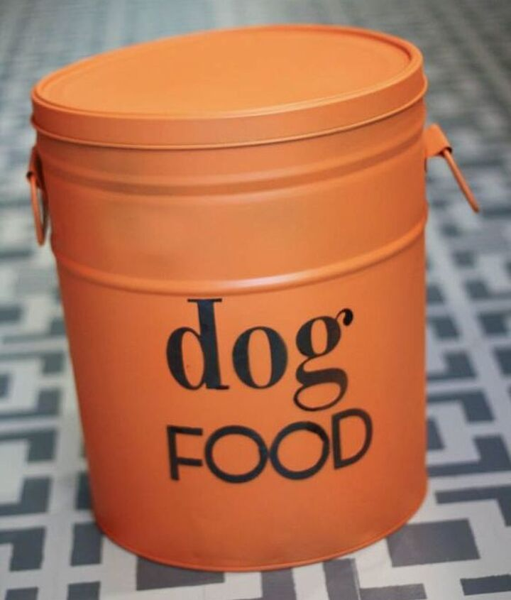 Diy Dog Food Storage From An Old Popcorn Tin Hometalk