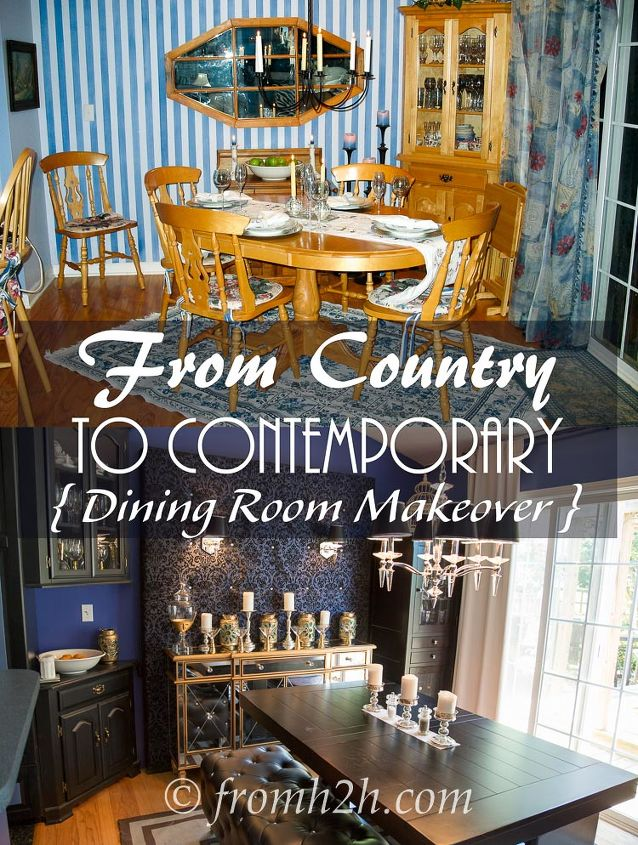 a dining room makeover from country to contemporary, dining room ideas, home decor
