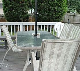 Superbe Outdated Patio Set Rustic Makeover, Decks, Diy, Outdoor Furniture, Rustic  Furniture
