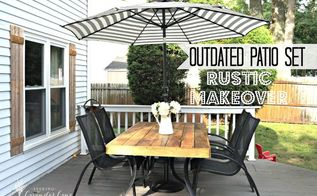 outdated patio set rustic makeover, decks, diy, outdoor furniture, rustic furniture