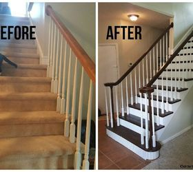 No More Carpet Staircase Reveal, Diy, Flooring, Stairs