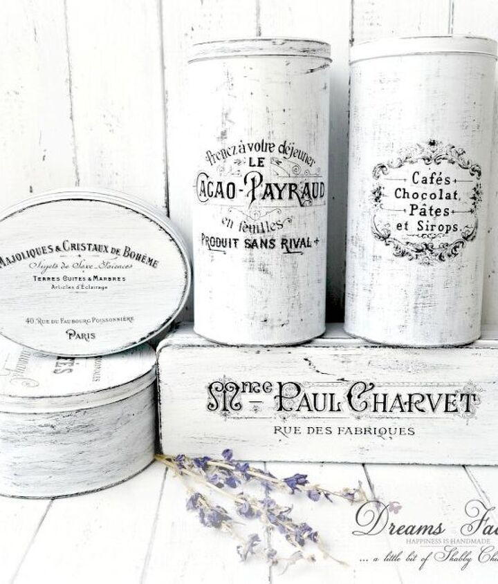 french made tin boxes, crafts, doors