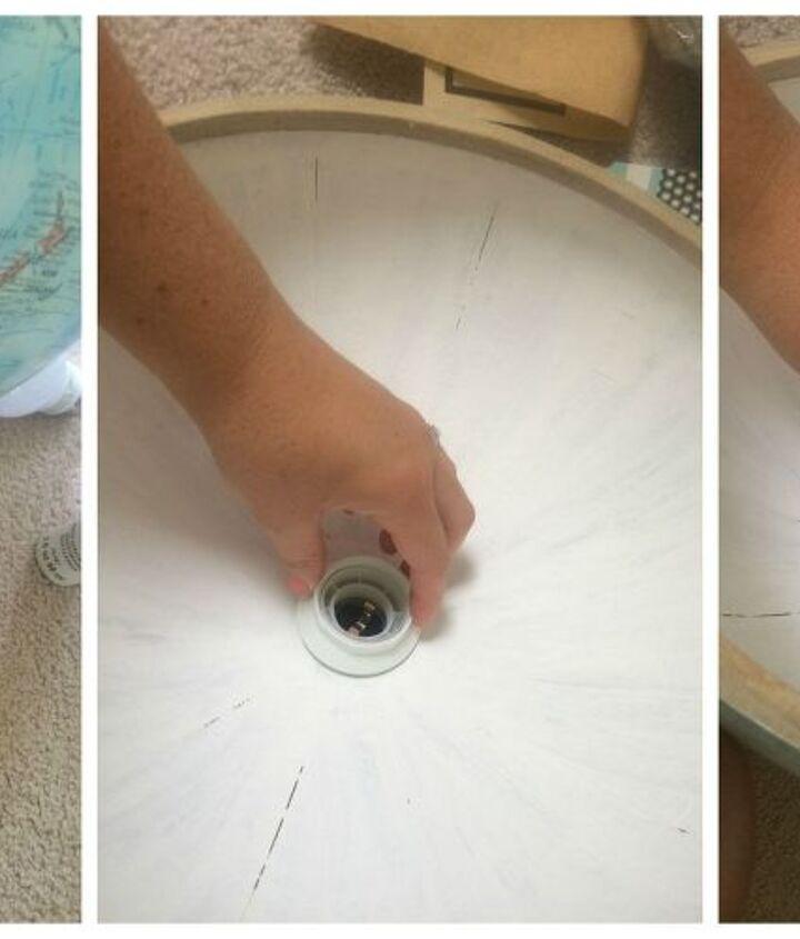 diy globe lighting pendant, crafts, lighting, repurposing upcycling