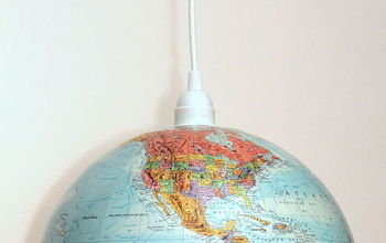 diy globe lighting pendant, crafts, lighting, repurposing upcycling