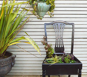 How To Make A Chair Planter, Container Gardening, Gardening, How To,  Repurposing