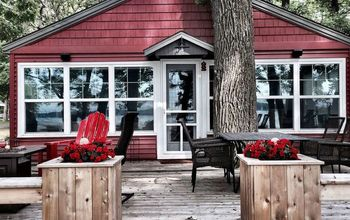 small cabin porch remodel, home decor, home improvement, outdoor living, painting, porches