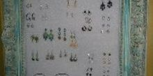 best earring display ever, chalk paint, crafts, organizing, repurposing upcycling
