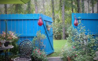 i ve got the blue s, fences, outdoor living, painting, patio