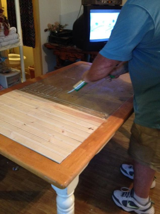 kitchen table upcycle after tiles fall out, crafts, kitchen design,  repurposing upcycling