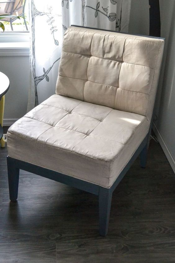 painting fabric with milk paint, painted furniture, reupholster