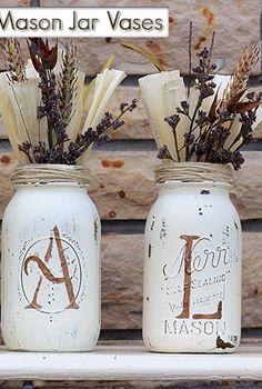 updated fall mason jar vases, crafts, how to, mason jars, repurposing upcycling, seasonal holiday decor
