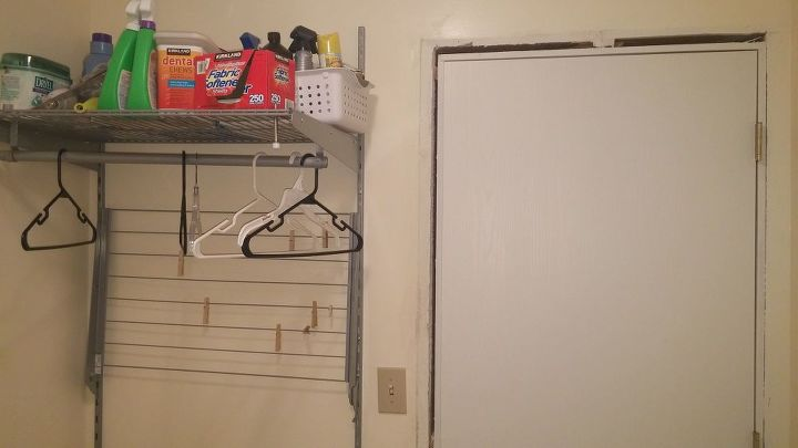 laundry room budget makeover, laundry rooms
