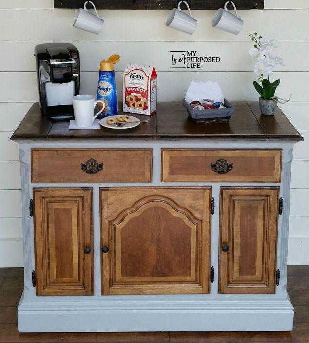 Repurposed Buffet Into A Coffee Bar Hometalk