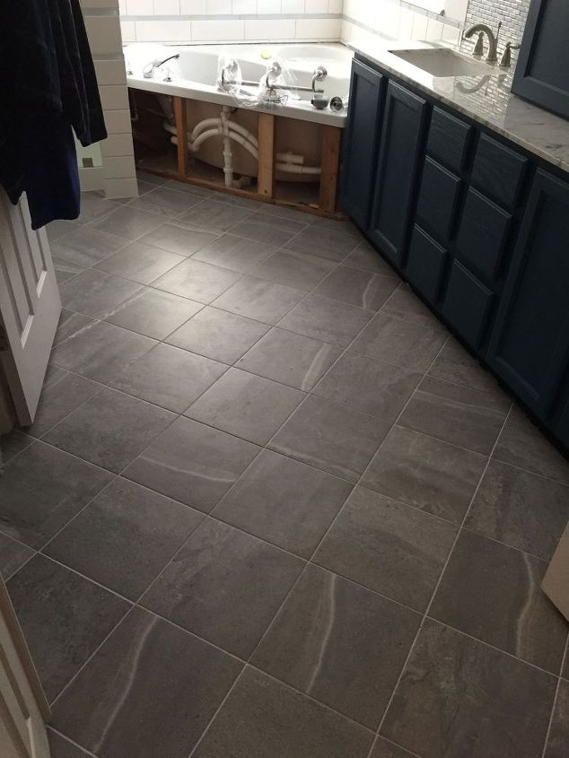 Carpeted Bathroom Gets a New Tile Floor | Hometalk
