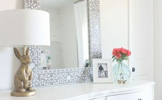 create a diy bone inlay painted mirror, crafts, how to