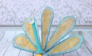 diy peacock from a whisk, crafts, how to