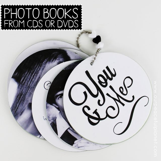 photo book from cds or dvds, crafts, repurposing upcycling