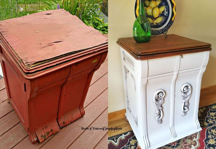 antique record player cabinet repurpose upcycle, decoupage, diy, painted  furniture, repurposing upcycling - Ugly Beast Turned Beauty Antique Record Player Redo Hometalk