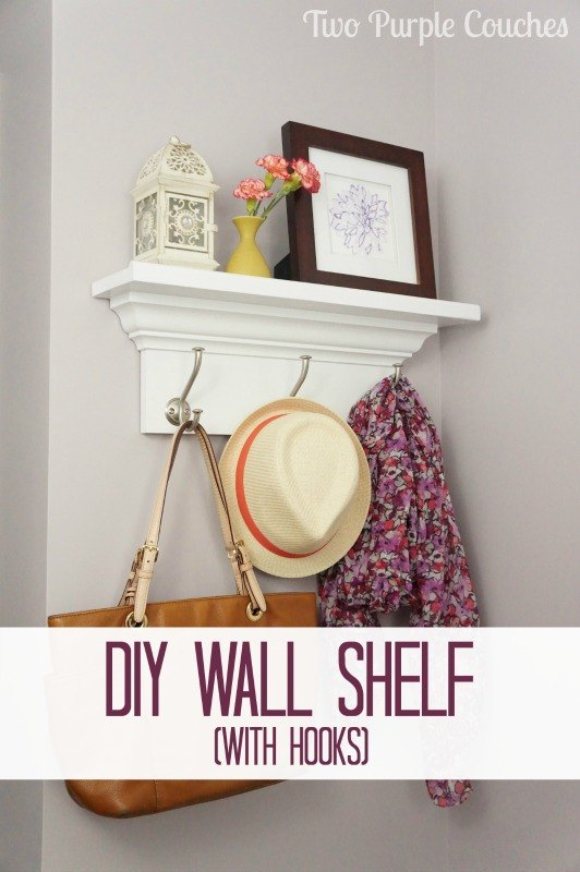 How To Build A Wall Shelf With Hooks Diy Shelving Ideas