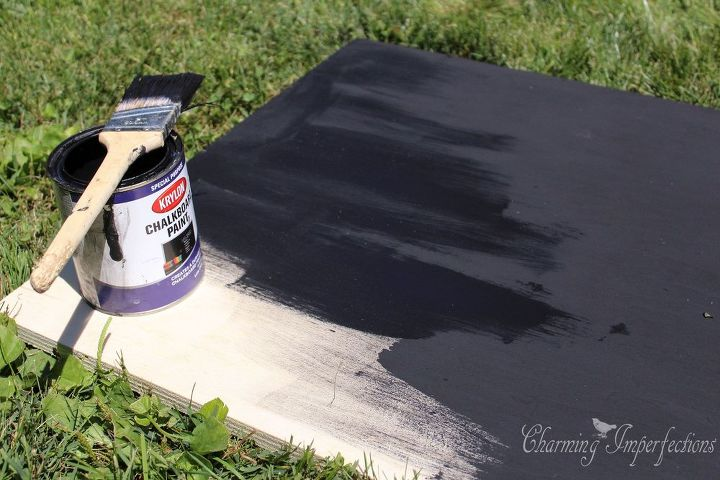 easy chalkboard easel tutorial, chalkboard paint, crafts, how to