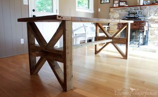 one farmhouse table two leg style options, diy, woodworking projects