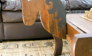 game table from rocking chair, diy, entertainment rec rooms, repurposing upcycling, storage ideas