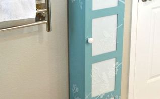 frosted glass bath storage cabinet makeover, bathroom ideas, painted furniture, storage ideas