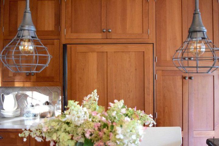 farmhouse style kitchen lights, diy, fireplaces mantels, kitchen design, lighting