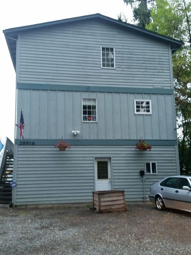 q tall flat siding, curb appeal, doors, home improvement, paint colors, painting