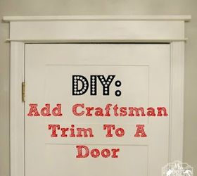 update your doors with easy craftsman trim diy doors how to woodworking  sc 1 st  Hometalk & Update Your Doors With Easy Craftsman Trim | Hometalk