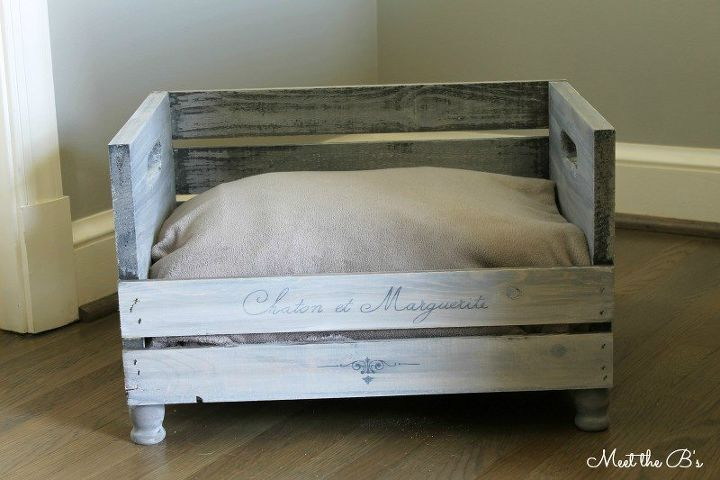 diy crate pet bed, diy, how to, pets animals, woodworking projects