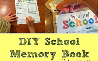 diy school memory book, crafts