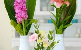 diy how to recycle bottles to beautiful flower vases, crafts, how to, repurposing upcycling