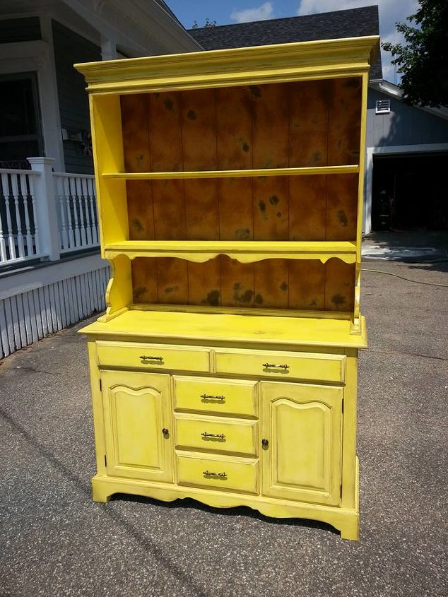 upcycled hutch, painted furniture